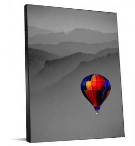 Tableau Voyage en couleur monochrome