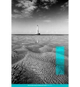 Tableau banc de sable au Phare de Cordouan monochrome