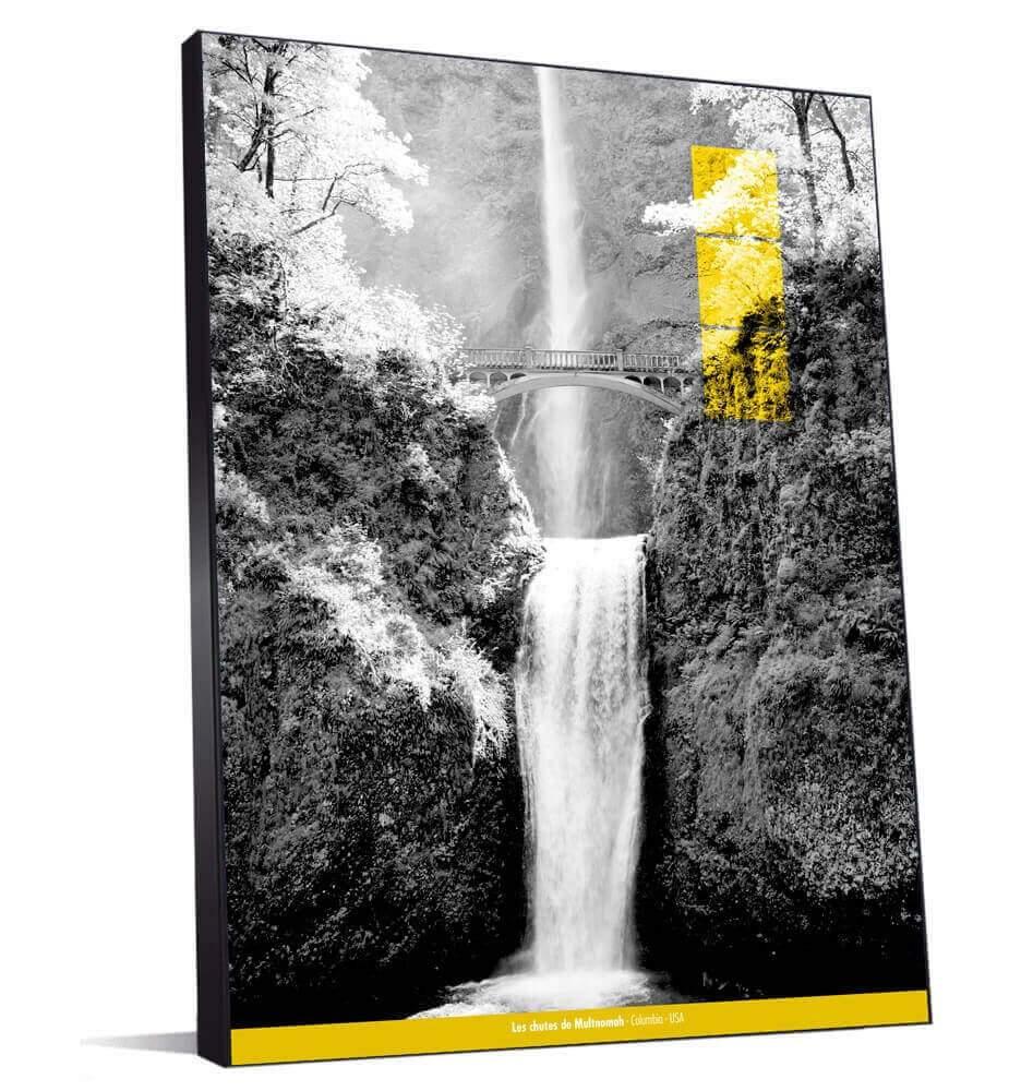 Tableau Les chutes de Multnomah monochrome