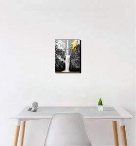 Petit Tableau Les chutes de Multnomah monochrome