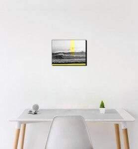 Petit Tableau Phare sur l'Ile de Mouro monochrome