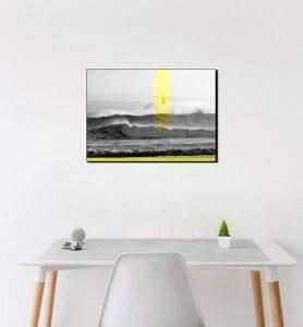 Moyen Tableau Phare sur l'Ile de Mouro monochrome