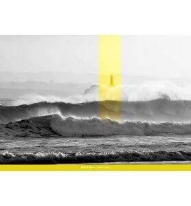 Tableau Phare sur l'Ile de Mouro monochrome