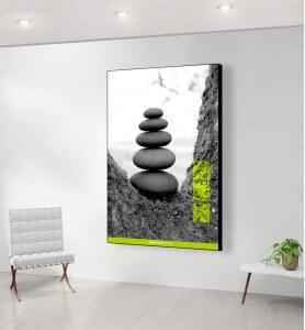 Grand Tableau Zen par Nature monochrome