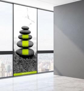 Vitrophanie Zen par Nature monochrome