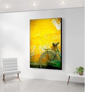 Grand Tableau Bicyclette verte