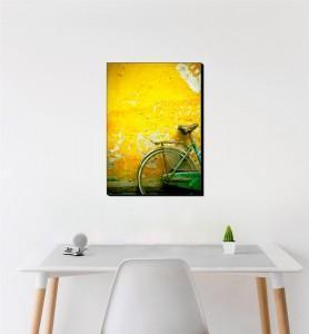 Moyen Tableau Bicyclette verte