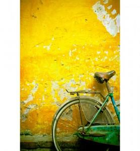 Tableau Bicyclette verte