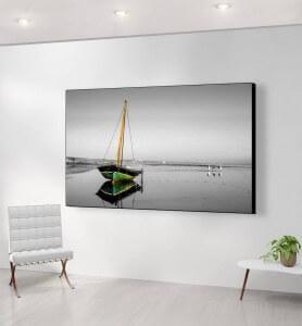 Grand Tableau Marée basse au Mozambique noir et blanc