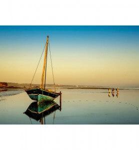 Tableau Marée basse au Mozambique