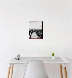 Petit Tableau Cerfs-volants en Andalousie noir et blanc