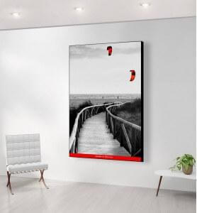 Grand Tableau Cerfs-volants en Andalousie noir et blanc