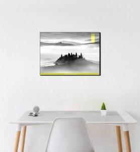 Moyen Tableau Belvédère en Toscane noir et blanc
