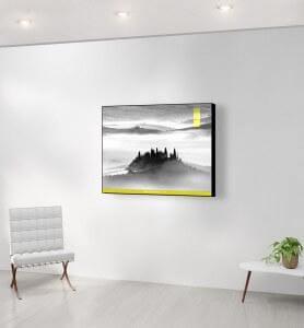 Moyen Tableau Belvédère en Toscane monochrome