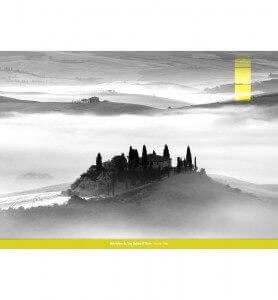 Tableau Belvédère en Toscane monochrome