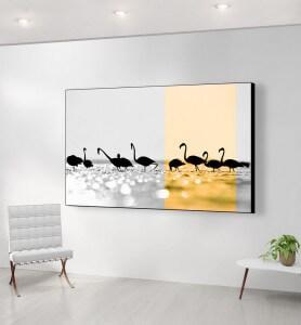 Grand Tableau Flamands dorés noir et blanc