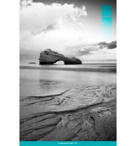 Tableau La Roche-percée à Biarritz noir et blanc