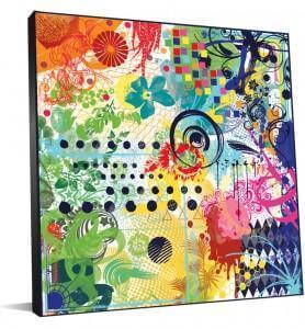 Peinture colorée grand format