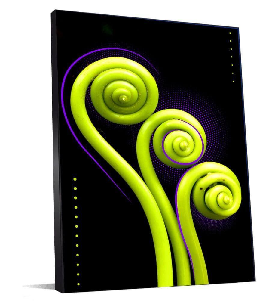 tableau de décoration vert et violet
