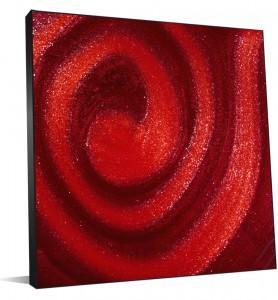 Tableau abstrait en dégradés de rouges