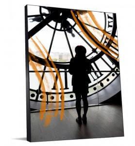 Photo noir et blanc de l'horloge du Musée d'Orsay