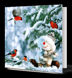 cartes de vœux bonhomme de neige