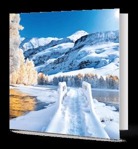 cartes de vœux paysage enneigé