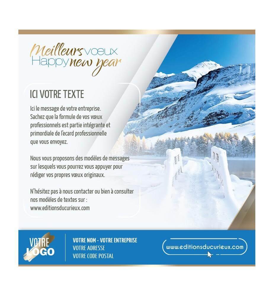 Ecard invitation aux sommets enneigés.