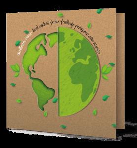 Carte de vœux planète