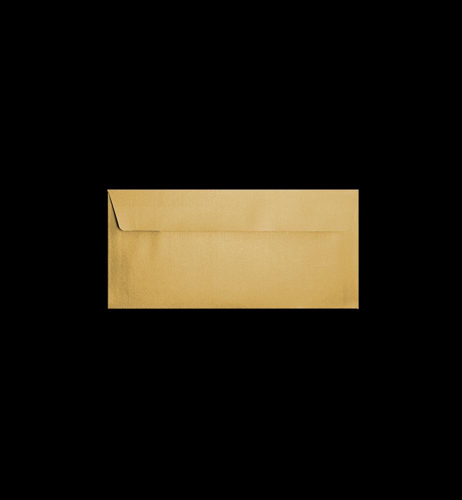 Enveloppes dorées rectangles