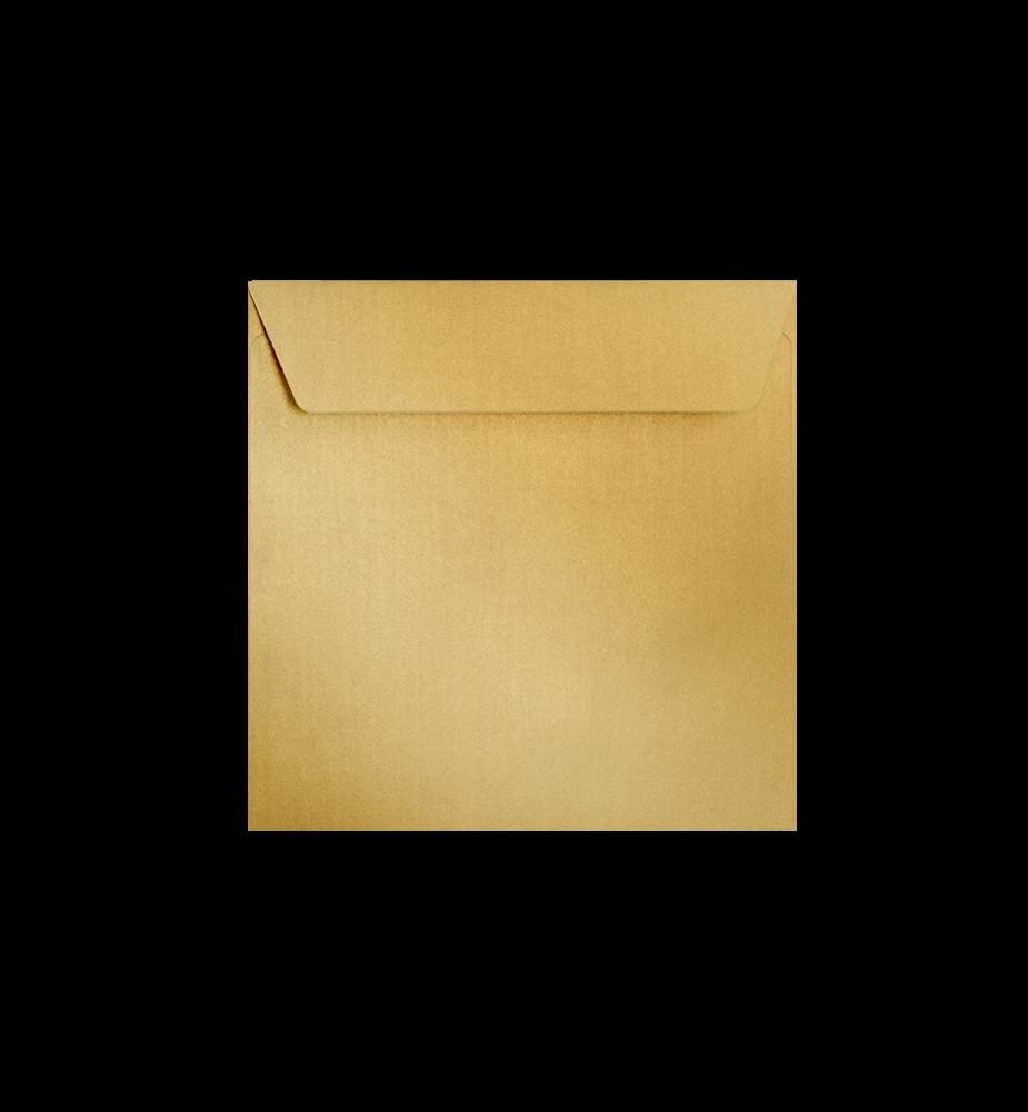 Enveloppes dorées carrées