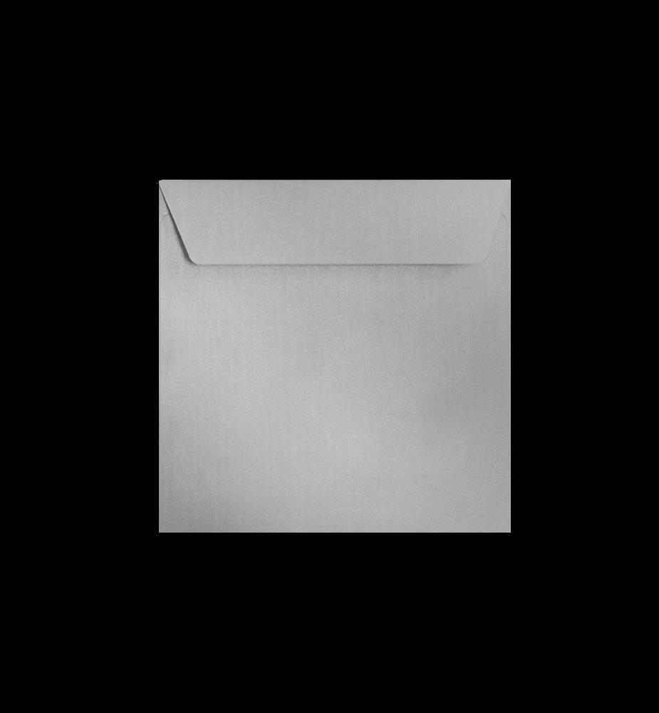 Enveloppes argent perlescent carré