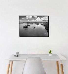 Tableau décoration Archipel noir et blanc