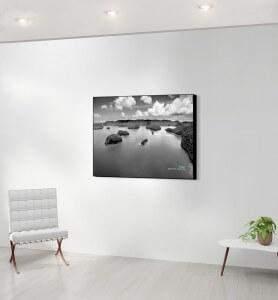 Tableau moyen décoration Archipel noir et blanc