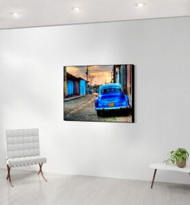 Moyen Tableau Vieille voiture à Cuba