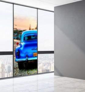 Vitrophanie Vieille voiture à Cuba