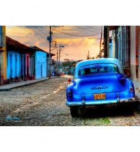 Grand Tableau Vieille voiture à Cuba