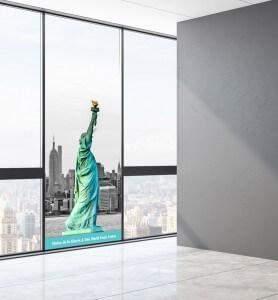 Vitrophanie décoration Statue de la liberté