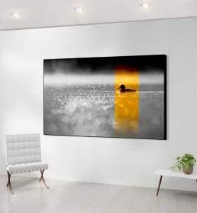 Grand Tableau décoration en pleine nature noir et blanc