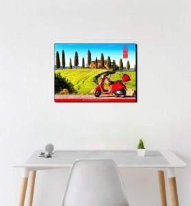 Tableau décoration Vespa en Toscane