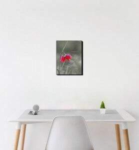 Petit Tableau décoration Fleur sauvage noir et blanc