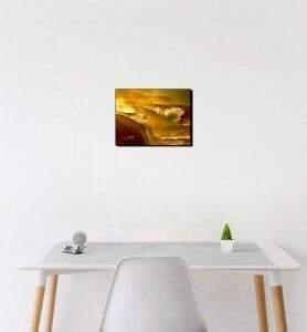 Petit Tableau décoration Tempête dorée