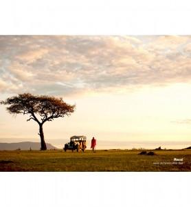 Tableau décoration Maasaï au Kenya