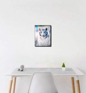 Petit Tableau décoration Tigre blanc