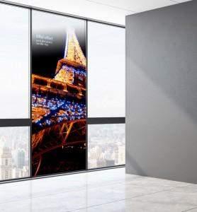 Vitrophanie Tableau décoration Eiffel effect