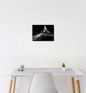 Petit Tableau décoration Eiffel effect noir et vlanc