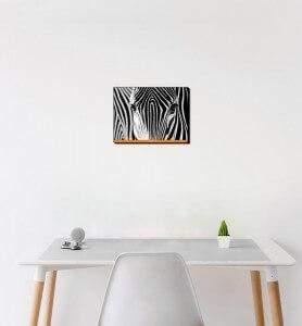 Petit Tableau Camouflage noir et blanc