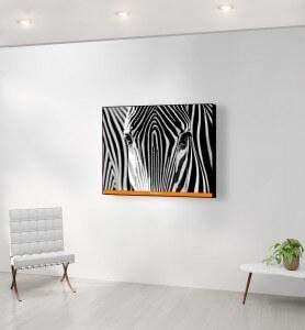 Moyen Tableau Camouflage noir et blanc