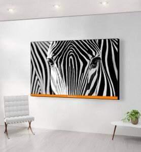 Grand Tableau Camouflage noir et blanc