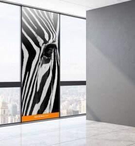 Vitrophanie Camouflage noir et blanc